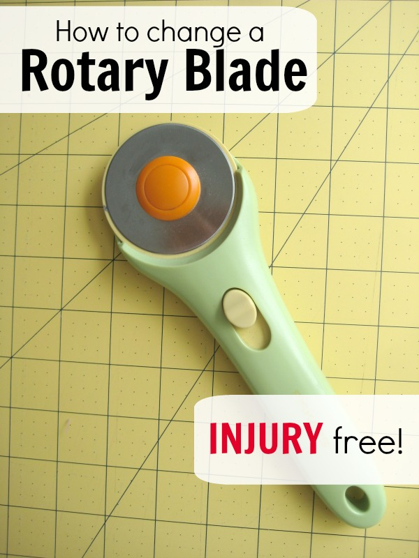 How to change a rotary blade.  The Sewing Loft