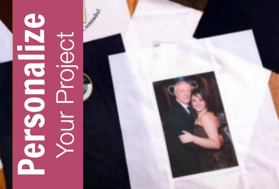 Learn how to personalize your project with photos, artwork and more on The Sewing Loft.