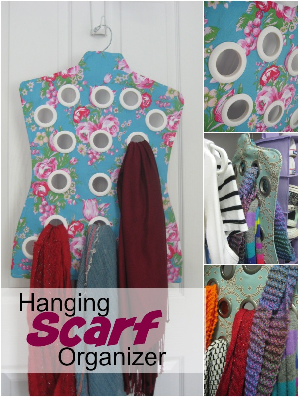 This hanging scarf organizer will keep your favorite accessory ready when you are. Easy to make and includes a free pattern. The Sewing Loft