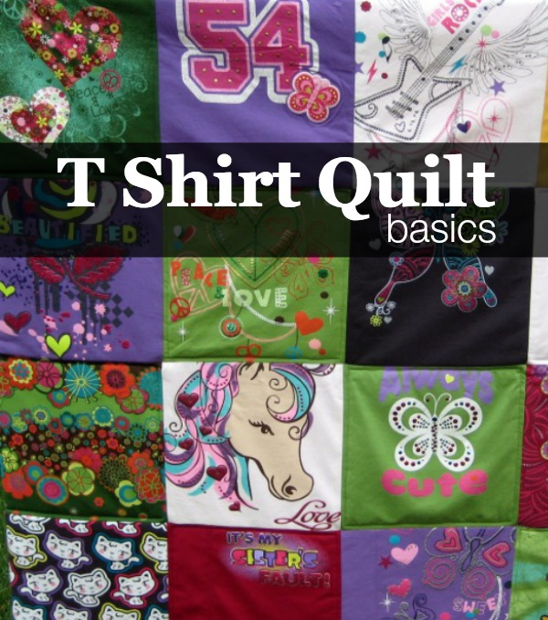 Mini Series.  Learn how to make a tshirt quilt on The Sewing Loft