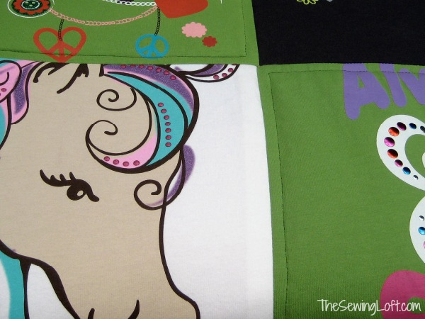 Learn how to make a tee shirt quilt on The Sewing Loft
