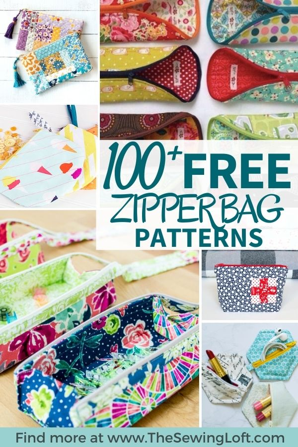 100 Free Zipper Pouch Patterns Rounded Up in one place. The Sewing Loft