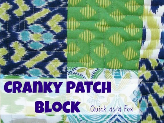 Cranky 9 Patch Quilt Block is easy sewing