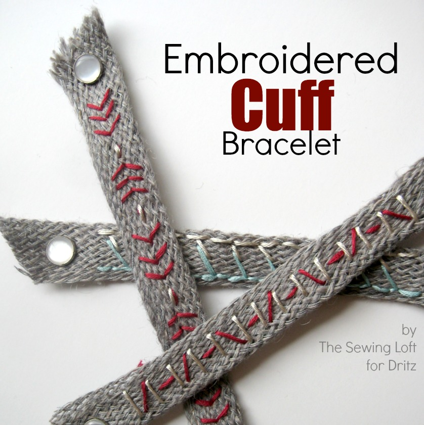 Embroidered Cuff Bracelet | The Sewing Loft