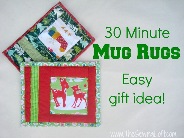 Holiday Mug Rugs | The Sewing Loft