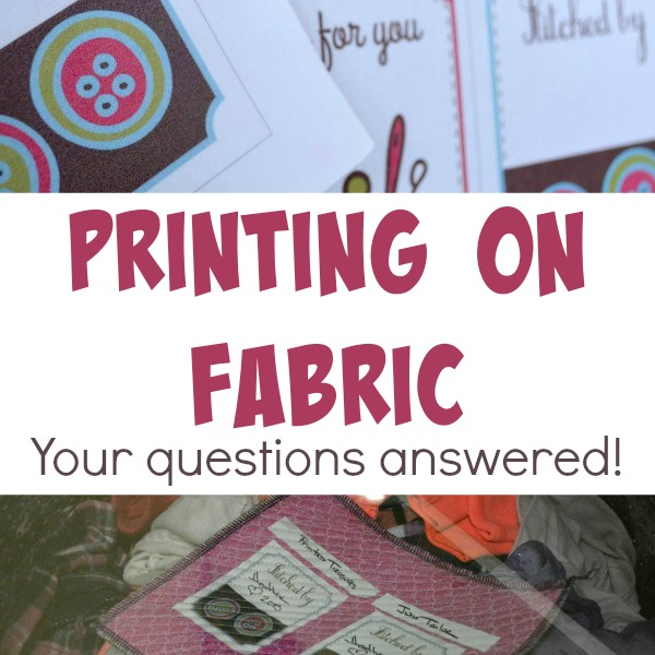 Get the skinny about printing on fabric. All your questions answered and photos after washing. The Sewing Loft
