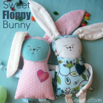 Easy to make bunny with free template. by The Sewing Loft