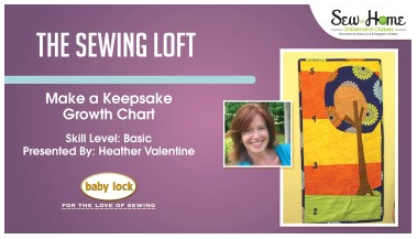 Learn how to make this keepsake growth chart. Video instruction and free pattern download. The Sewing Loft