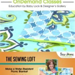 Learn how to make a water resistant picnic blanket in this free video class with Heather from The Sewing Loft.