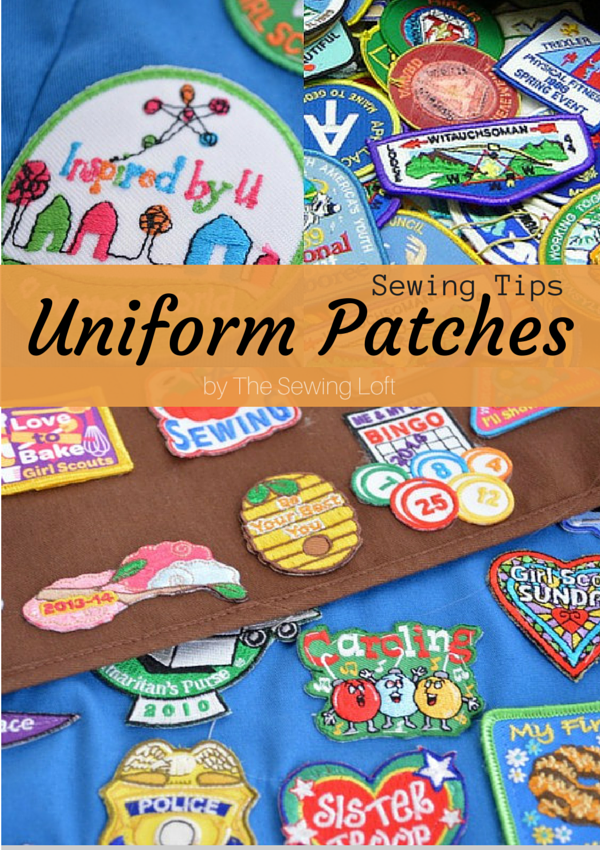 Sewing uniform patches can be a challenge but with these easy tips you will have your scout or military loved one looking like a star. The Sewing Loft