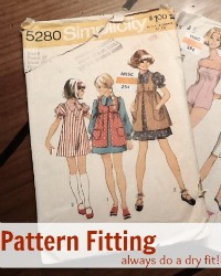 Always create a muslin for pattern fittings. Learn how to create Pre Fit on The Sewing Loft