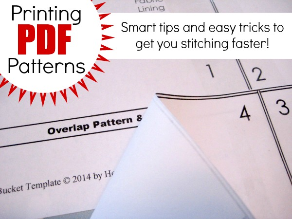 Tips to help you print a pdf pattern at home.