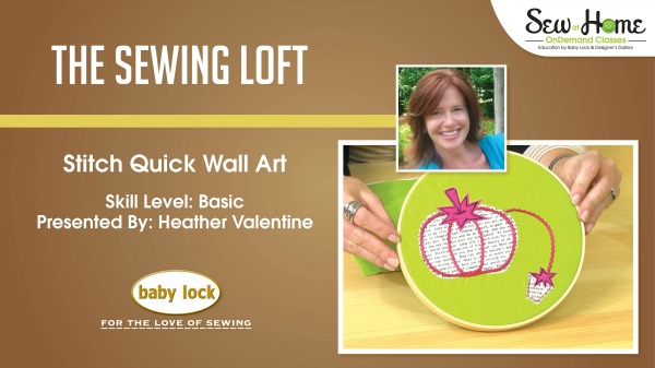 Learn how to make this applique pincushion wall art in this free video class with Heather from The Sewing Loft.