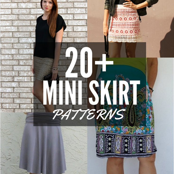 Update your wardrobe with over 20 free mini skirt patterns. Many are so easy you can make them today and wear them tonight. The Sewing Loft