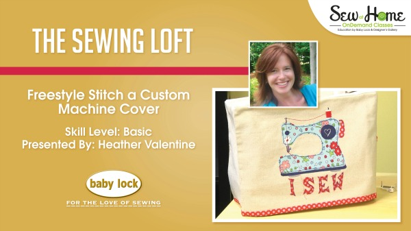 Learn how to get creative with applique and free motion stitching. In this free video class you will make this sewing machine cover to keep your machine in tip top shape and dust free! The Sewing Loft