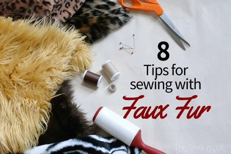 Working with faux fur fabric can be tricky but set yourself up for sewing success with these easy tips. The Sewing Loft