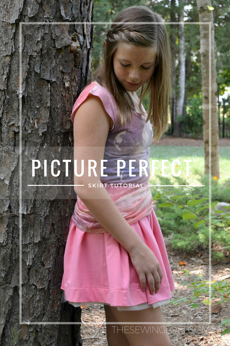 This easy skirt tutorial will make every picture perfect! The peek a boo tulle adds a sweet detail while the elastic waist is easy to wear. Simple sewing only. The Sewing Loft