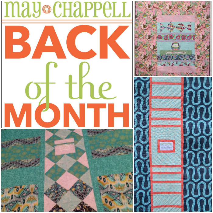 I love Lee's work! Check out her Back of the Month Club and learn creative ways to design your quilt backs with May Chappell!