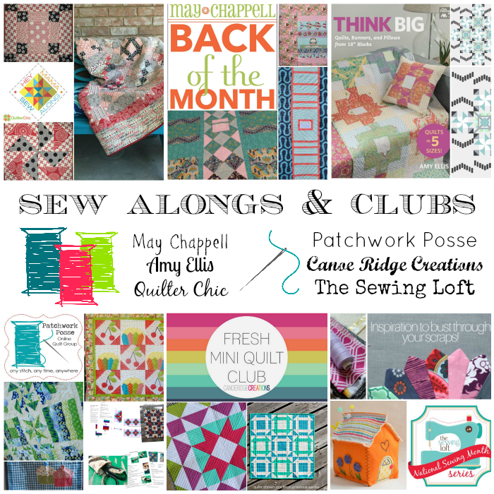 I'm excited to join these new clubs and sew alongs!