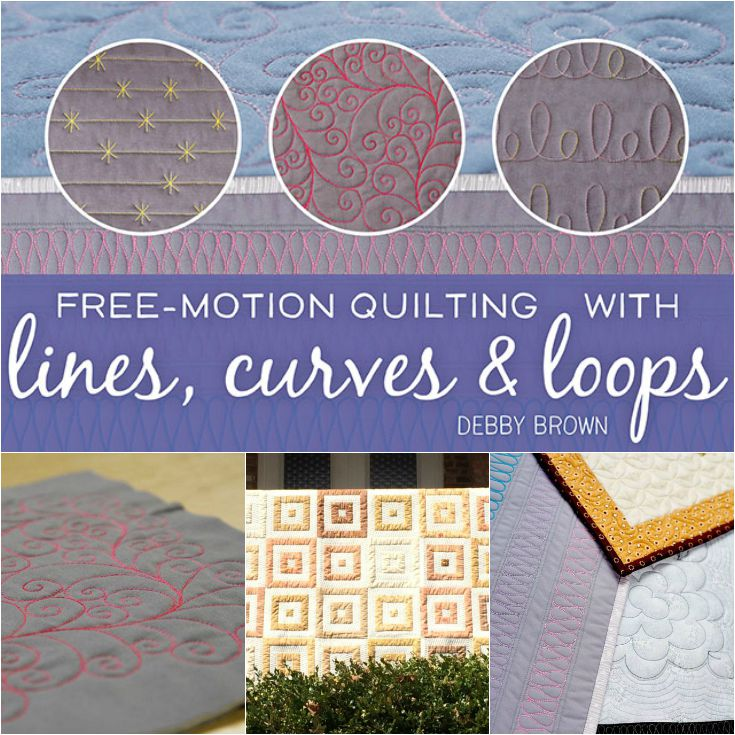 Learn Free Motion Quilting Techniques with Debby Brown on Craftsy.