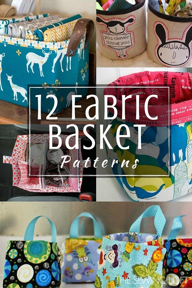12 Free Fabric Basket Patterns | The Sewing Loft