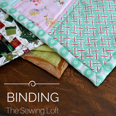 Binding 101. Learn how this trim can clean finish your project, how to make and calculate yardage needed to create binding for your next project. The Sewing Loft