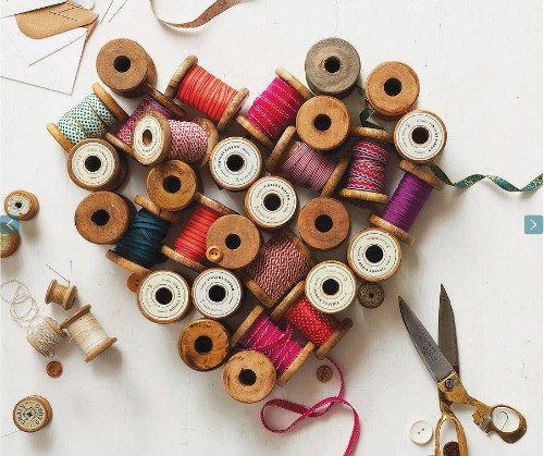 Creative uses for vintage thread spools. The Sewing Loft