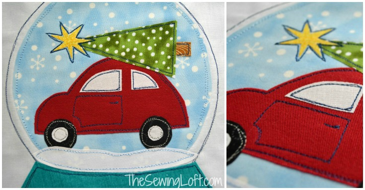 Snow Globe Applique Bundle Pack Pattern by The Sewing Loft