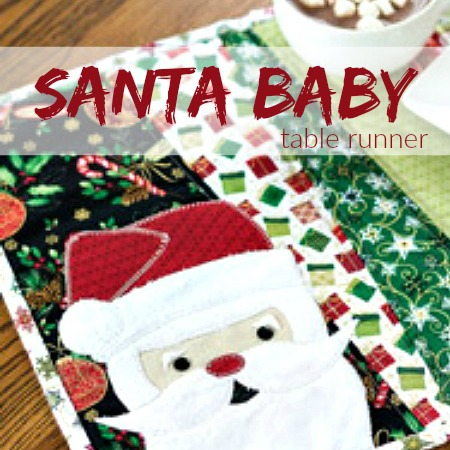 Celebrate the season with this Santa Baby Table Runner Pattern Design by The Sewing Loft