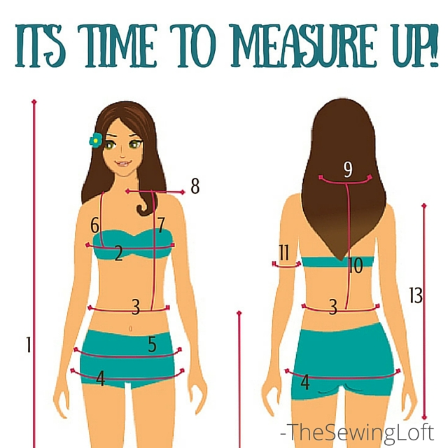 This measure your body worksheet from The Sewing Loft is the perfect way to keep track of key points of measure used when sewing garments. Print it out, measure your body and take it with you when purchasing your next pattern.