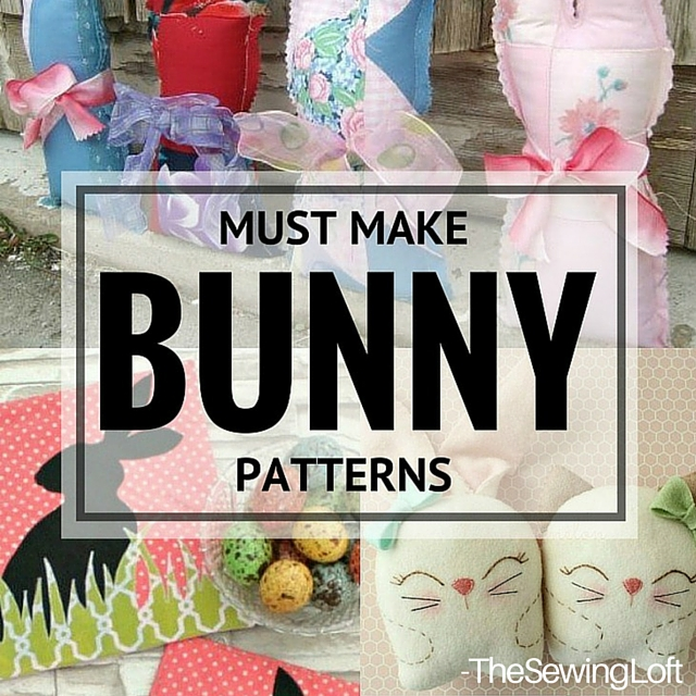 Stitch up one of these Amazing Bunny Patterns this Easter. The 10 patterns are easy to sew and quick to make. The Sewing Loft.