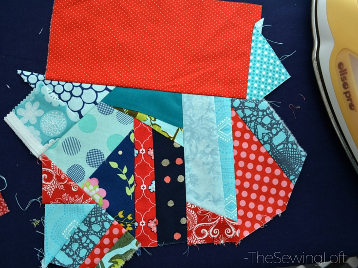 Create new fabric from smaller scraps with this easy scrap management technique. The Sewing Loft