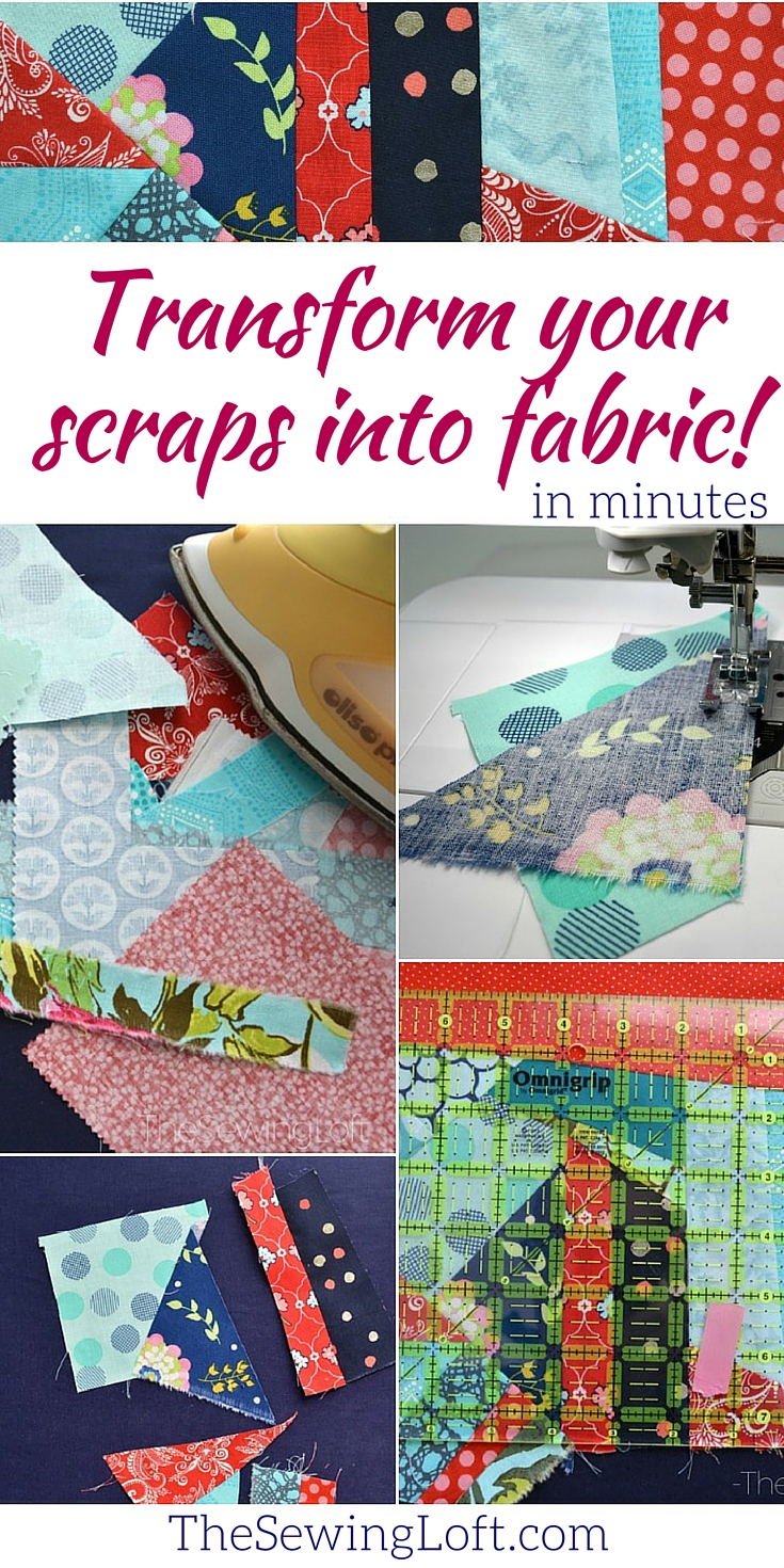 WOW, I just learned how to create fresh new fabric from my scrap leftovers with this easy technique from The Sewing Loft. It's a win/win in my world without the guilt!