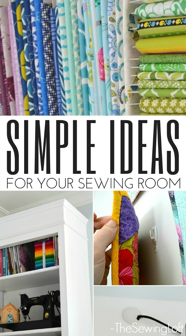 Stay productive in your creative space with these simple sewing room ideas. The Sewing Loft