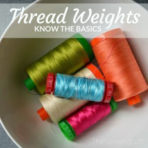 Thread weights should be considered before beginning a sewing project because the weight of the thread used can affect the final outcome.