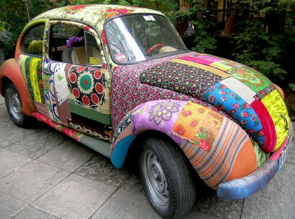 Have you ever thought about making a fabric car cover? See these amazing transformations created from your fabric bin.