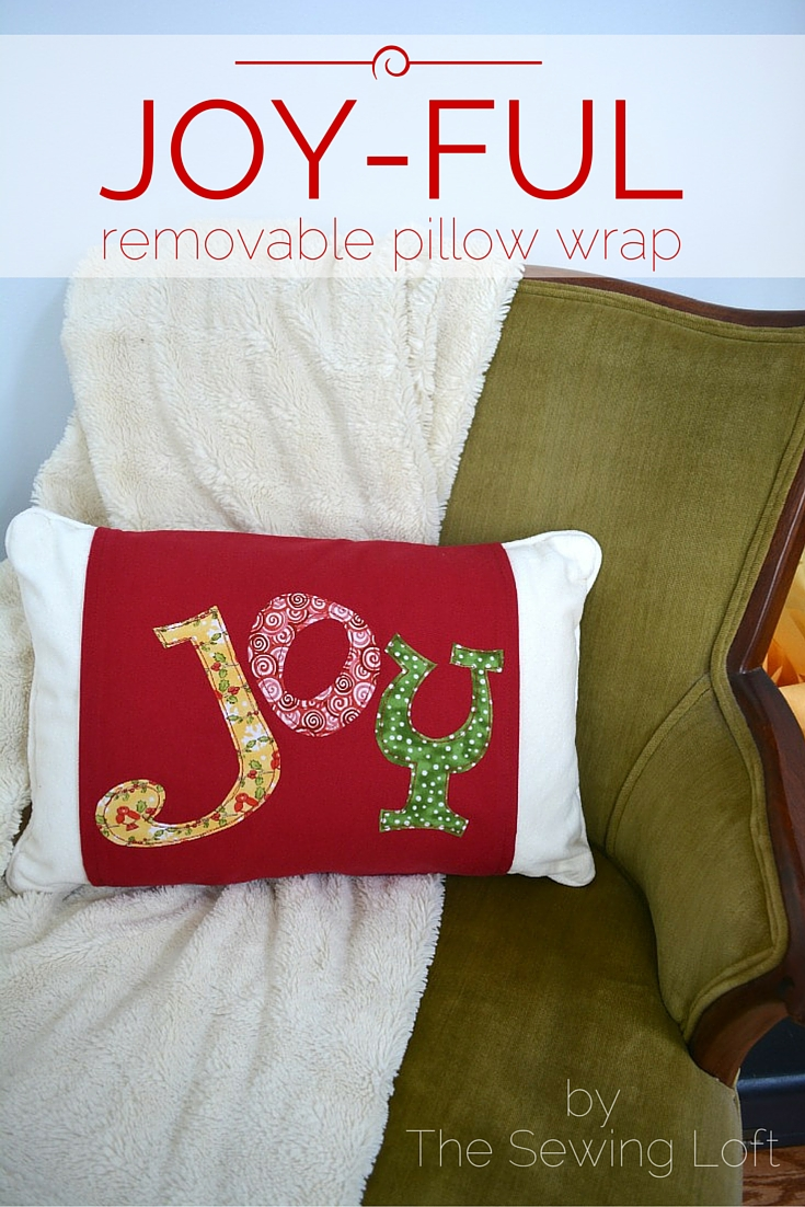 Add a touch of festive decor to your home with this easy to make removable pillow wrap.