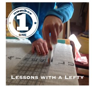 Left handed sewing can be a challenge in a right handed world. Here are a few tips to help out.