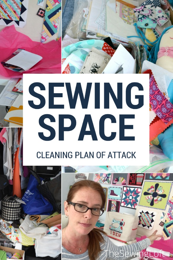 Start your year or next project off right with a clean sewing space. This easy plan of attack will make your next project a dream.