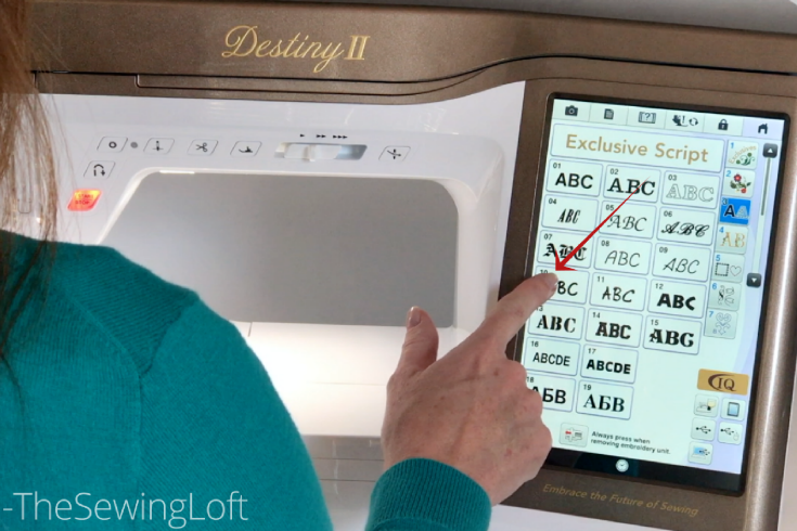 Learn how to create subway style embroidery with the built in fonts on your Destiny II sewing machine.