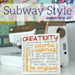 Learn how to create subway style embroidery with the built in fonts on your Destiny II sewing machine. Video shows how to add words and adjust step by step.