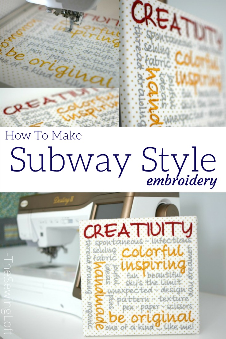 Learn how to design subway style embroidery with the built in fonts on your Destiny II sewing machine. Video shows how to add words and adjust step by step.