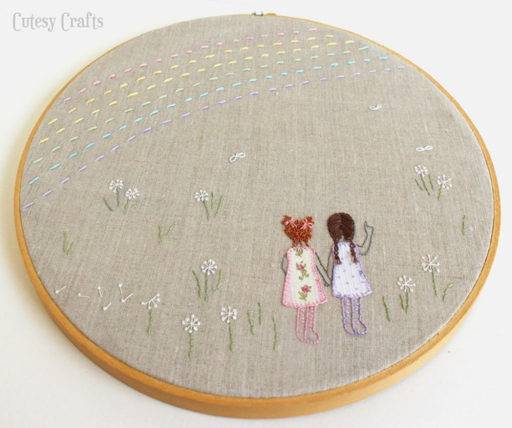 sweet sisters embroidery pattern
