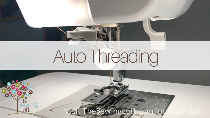 The automatic needle threader is a game changing feature on any sewing machine. See how easy it is to use and why it is so important.