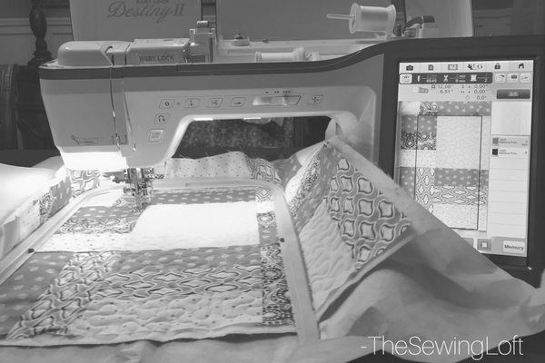 BabyLock Destiny II Quilting with scan feature