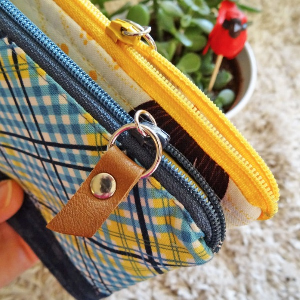Up your sewing game with this easy to make leather zipper pull.