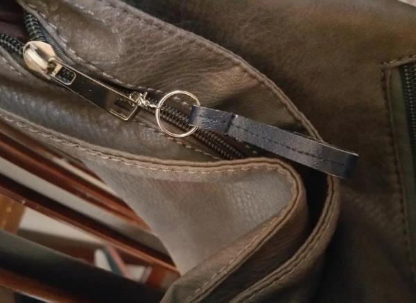 Simple leather zipper pull tab DIY