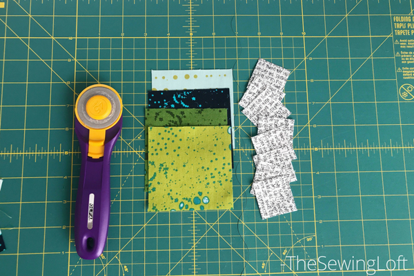 Fabric pull for posy block from Heartland Heritage