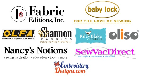 Special thank you to the amazing sponsors of the 2018 Sew Scrappy Sewing Retreat. The event was a blast and the goodies were amazing!