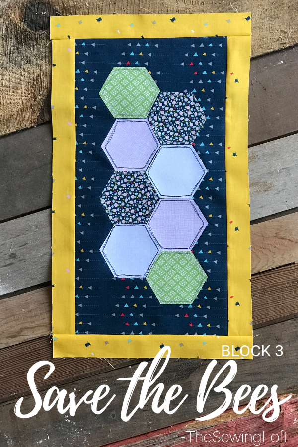 Save the Bees Quilt Block   Free Pattern